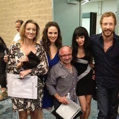 Pic of the cast. Such awesome people! Zoie Palmer, Anna Silk, Rick Howland, Ksenia Solo and Kris Holden-Ried