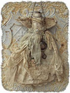 Altered art doll made by Joann Perotti