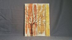 Fall Autumn Reclaimed pallet art Distressed Handpainted tree with swing outlin Pallet Projects, Art Projects, Pallet Ideas, Project Ideas, Craft Ideas, Pallet Furniture With Lights, Pallet Tree, Pallet Wall Art, Distressed Signs