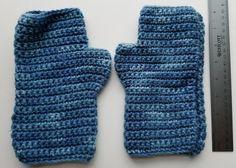 Handmade Blue Fingerless Gloves
