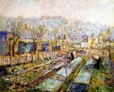 Ernest LAWSON View of a garden in a Paris suburb