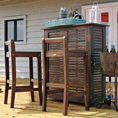 Martha Living Berland Three Piece Bar Set Outdoor Gustin Patio