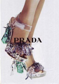 Prada S/S 10 by Steven Meisel Floral Candy Steven Meisel, Stilettos, Pumps, Runway Fashion, Fashion Shoes, Fashion Accessories, Fashion Fashion, High Heels Boots, Shoe Boots