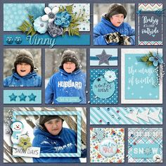Winter Themed Scrapbook Page | 12X12 Layout | Creative Scrapbooker Magazine | Scrapbook Layout    #scrapbooking #winter