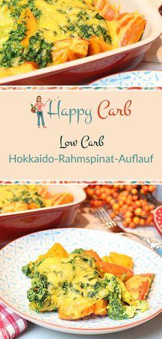 Hokkaido-Rahmspinat-Auflauf. Spinatfans brav den Mund aufmachen. Low Carb, ohne Kohlenhydrate, Glutenfrei, Low Carb Rezepte, Low Carb Vegetarisch Low Carb Kürbis, Zuckerfrei, Gesunde Rezepte, #gesunderezepte #deutsch #foodblog #lowcarb #lowcarbrezepte #ohnekohlenhydrate #zuckerfrei #ohnezucker