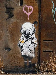 by Banksy.