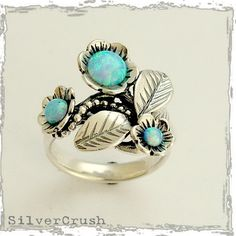 Blue grass ring