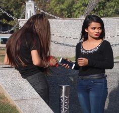 209. Two Desi Girls Fighting In The Park Hair Lengthening, Girl Back, Girl Fights, Bodysuit Fashion, College Girls, Indian Beauty, Lesbian, Desi, Long Hair Styles