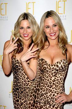 Lesbian brunette twins
