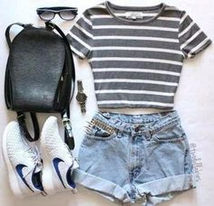 30 Summer Outfit Ideas to Upgrade Your Look 2019 summer outfits damen - O U T F I T S - Modetrends Cute Summer Outfits, Spring Outfits, Trendy Outfits, Outfit Summer, Casual Summer, Summer Dresses, Summer School Outfits, Summer Diy, College Outfits