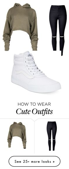 """""""Cute lil school outfit"""" by angie-renee-scott on Polyvore featuring WithChic and Vans"""