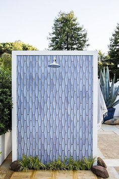 Shower Of Tile - Outdoor Tile That Is Definitely Not For Squares - Photos