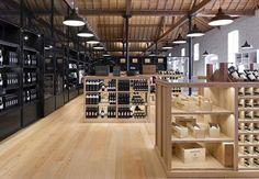 tienda de vino, arquitectura, espacio interno