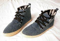 Everyday Rope Tribekas - Chukka Boot - Blue Stonewash Denim Vegan Shoes $68