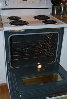 Chemical-free stovetop & oven cleaning. Electric, but a lot of this is similar to an all-gas range.