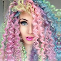 Unicorn curls  Follow us for more hairstyles.  Her Box is a monthly subscription box catered to women during your periods. Discover products that will relieve stress and discomfort. Treat Yourself. Check out www.theHerBox.com for a 3 month subscription box.