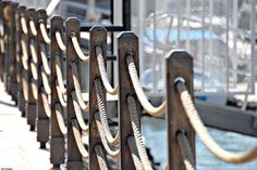 The World's most recently posted photos of posts and rope Rope Fence, Rope Railing, Diy Fence, Deck Railings, Fence Ideas, Landscape Stairs, Landscape Design, Porch For Camper, Decking Panels