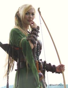 "One of our elves, ""Jora"", played by Sol Geirsdottir; photo by David DePerro. You can find more information on Sol here: http://www.thevikingqueen.com."