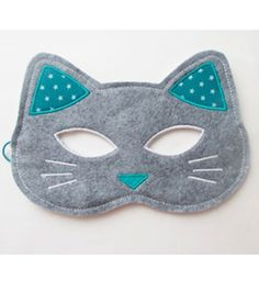 Cats Toys Ideas - Masque chat laura jane etsy www. - Ideal toys for small cats Sewing Projects For Kids, Sewing For Kids, Diy For Kids, Sewing Crafts, Felt Diy, Felt Crafts, Sewing To Sell, Ideal Toys, Cat Mask