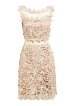 Step out in style this Spring/Summer season with this beautiful lace dress from D.Anna! Boasting a figure-skimming design with sheer lace panelling at the neckline and waist, this dress is ideal for summer parties and special occasions. Crafted from floral lace with 3D applique flowers and coupled with a striking cross-back design, this dress is sure to impress.  Floral lace Applique flowers Sheer detailing Cross-back design Rear zip fastening Also available in Navy  Team LBD recommends…