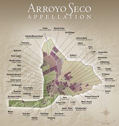 Arroyo Seco AVA - wine growers, vineyards, vintners Monterey County, Ava, Vineyard, Wine, Poster, Bay Windows, Vine Yard, Vineyard Vines, Billboard