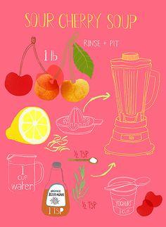 Cherry soup illustration