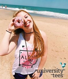 donut you wish you were an APhi | Alpha Phi | Made by University Tees | universitytees.com