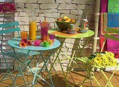 Comer en una preciosa terraza veraniega