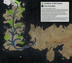 Mapas inspirados em Game of Thrones retratam a história de Westeros