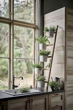 IKEA has such great pieces for every stage of your life, and every room in your home. But what do designers buy when they shop at IKEA? Herb Garden In Kitchen, Kitchen Herbs, Herbs Garden, Plants In Kitchen, Kitchen Art, Kitchen Decor, Kitchen Sink, Kitchen Design, Rustic Kitchen