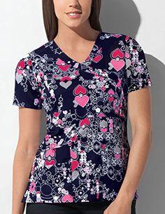ce76dc2ac86 Amazon.com: Gen Flex By Dickies Women's Mock Wrap Abstract Print Scrub Top  X-Small Print: Clothing