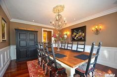 Love the lighting in this #Dining room. Very classy!
