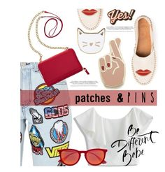 """Untitled #2762"" by deeyanago ❤ liked on Polyvore featuring Des Petits Hauts, Georgia Perry, GCDS, Chicwish, TravelSmith, Anya Hindmarch, Ray-Ban and patchesandpins"