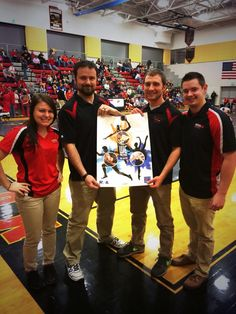 """FSU athletic training students volunteering at a local HS wrestling tournament! #NATM2015 @NATA1950 @frostburgstate"""