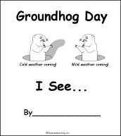 Groundhog Day Coloring Pages eBook: Standing Groundhog