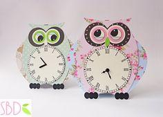 Tutorial: Orologio da muro Gufo - DIY Owl wall clock