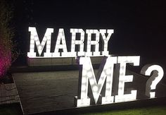 Hire Bespoke Wedding Giant Light Up Letters | As Seen On BBC TV