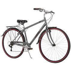 Mens Cruiser Bike 7 Speed Lightweight Steel Frame Padded Seat Bicycle Grey #Huffy
