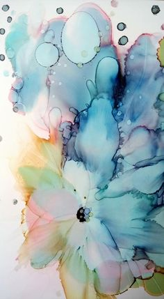 Alcohol Ink Crafts, Alcohol Ink Painting, Alcohol Ink Art, Watercolor Projects, Watercolour Tutorials, Watercolor Cards, Studio Decor, Art Design, Flower Art