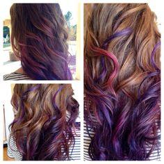 Purple ombre Hair. Barbara Wolfe Tucker