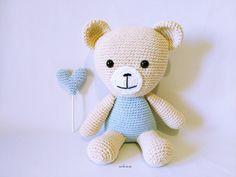 Image of Muñeco Amigurumi Oso Sentado * Amigurumi Sitting Bear Doll