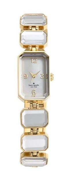 Kate Spade crystal bracelet watch.| LBV ♥✤ | KeepSmiling | BeStayElegant
