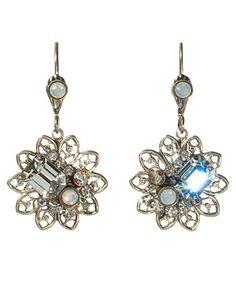 Sorrelli ECD16ASWBR White Bridal Earrings   Price: $39.00