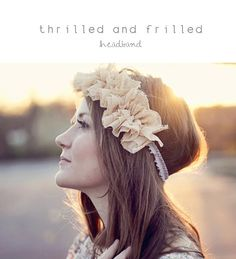DIY Wedding Crafts : DIY thrilled and frilled headband
