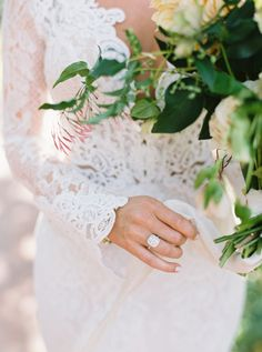 Stunning double halo diamond engagement ring: http://www.stylemepretty.com/2016/03/07/whimsical-ranch-wedding-in-texas/ | Photography: Sarah Kate - http://sarahkatephoto.com/