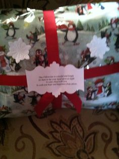 A special pillow and Christmas Pillowcase that s for a little on that was at Pittsburgh Children's Hospital for 7 weeks!