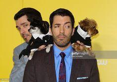 TV Personalities Drew Scott (R) and Jonathan Scott (L) attend The World Dog Awards at Barker Hangar on January 10, 2015 in Santa Monica, California.