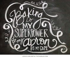 Baking Is My Superpower | Free Art Print | by Jessica Kirkland for TheCakeBlog.com