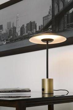 Lámpara de mesa HOSHI | HOSHI/28387/O/N/ | negro oro cobre led interior metal | Keisu, iluminación y diseño.