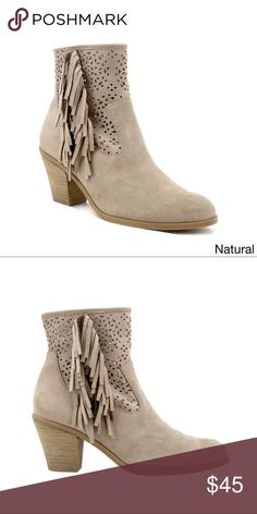 c6cd4fc4964d Ladies chunky heels Tremont Fringe Booties Step comfortably into cooler  days with these attractive fringed faux